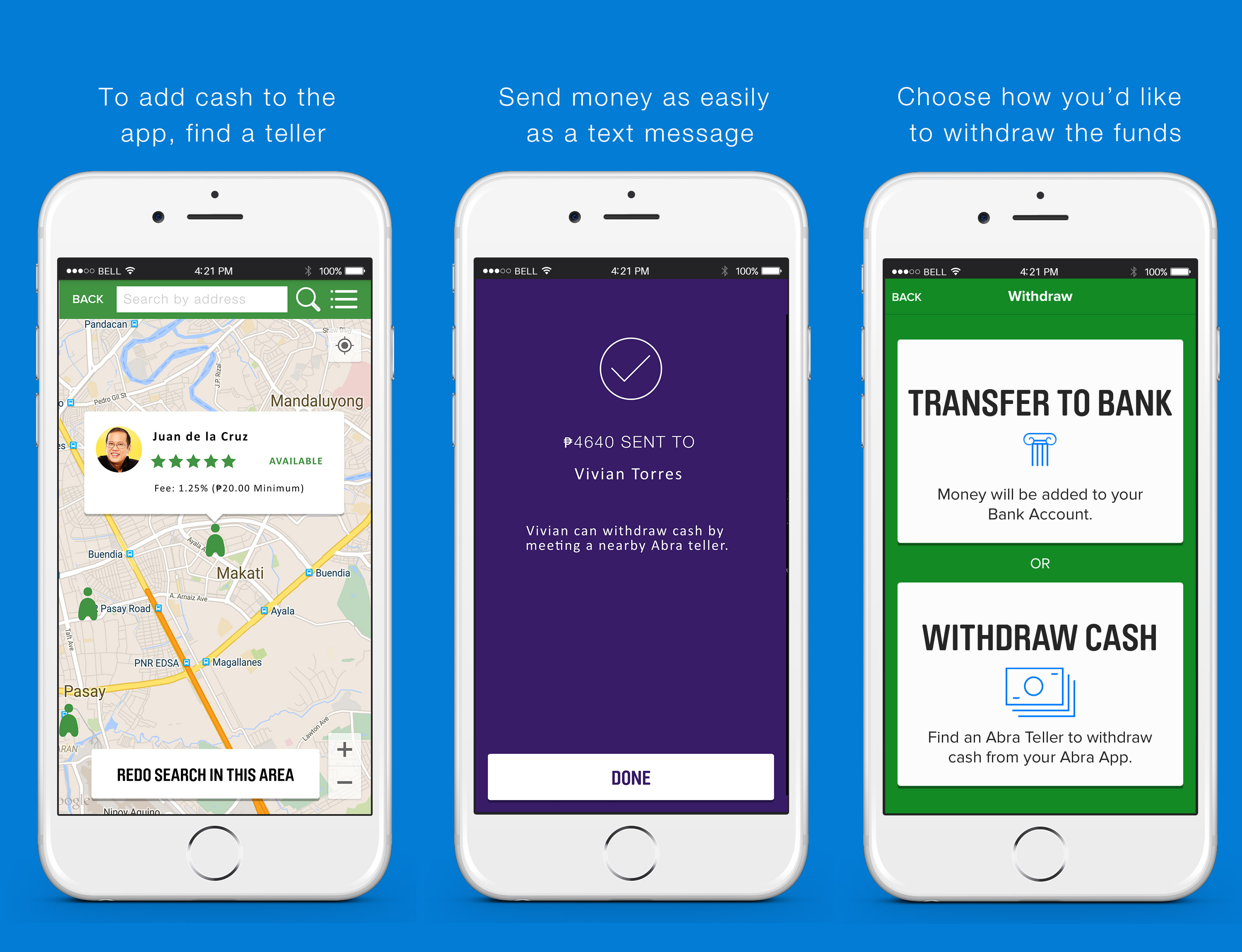 Send money instantly - no bank account required